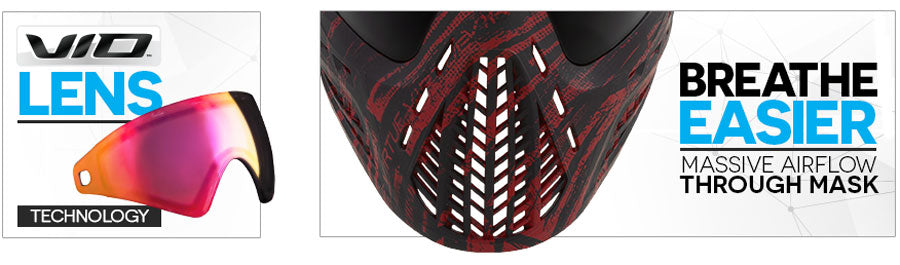 Virtue VIO Ascend Goggle - Graphic Red - Content Bottom
