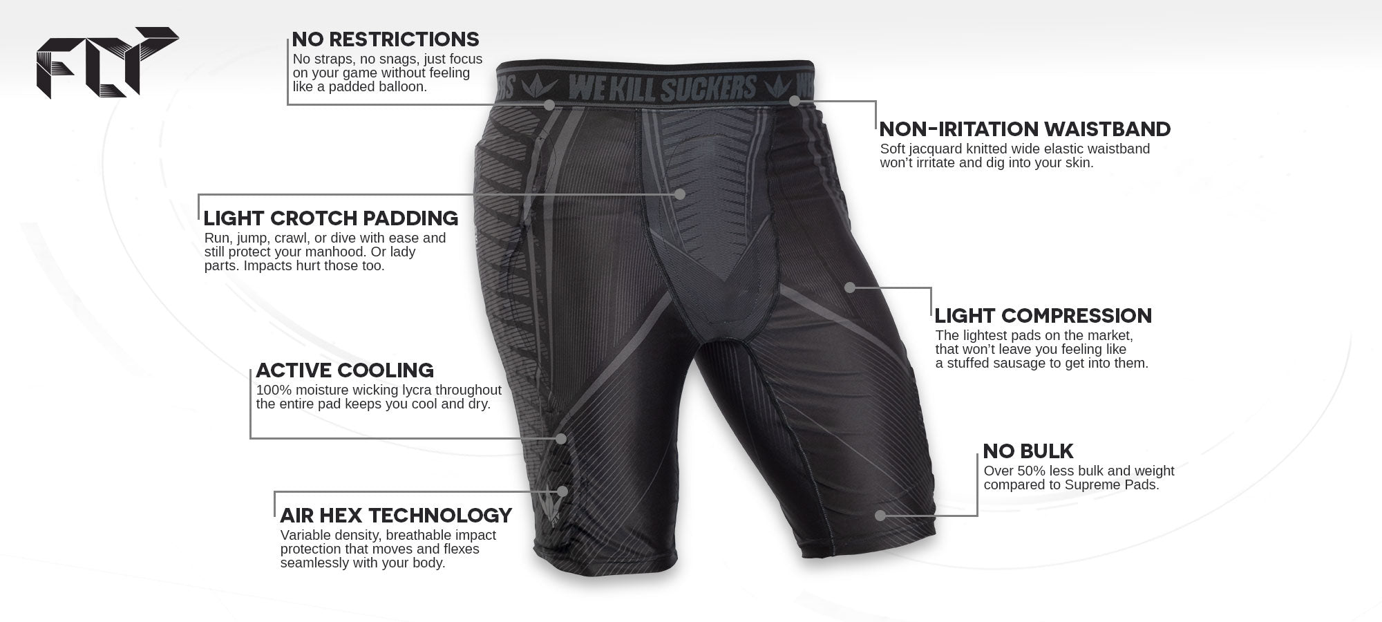 FLY Compression Shorts - Feature Banner