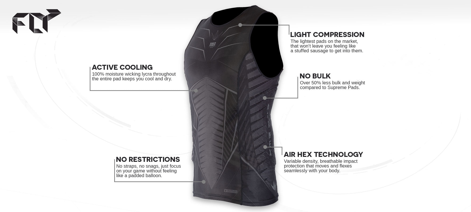 FLY Sleeveless Compression Top - Feature Banner