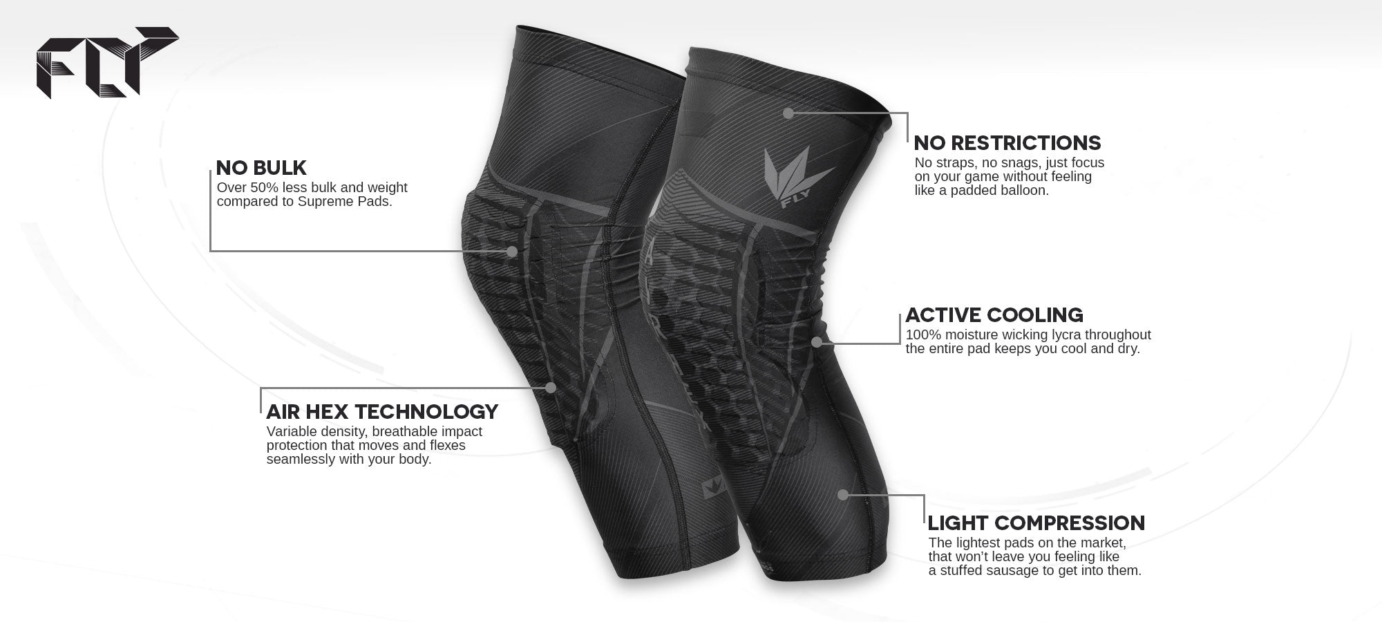 FLY Compression Elbow Pads - Feature Banner