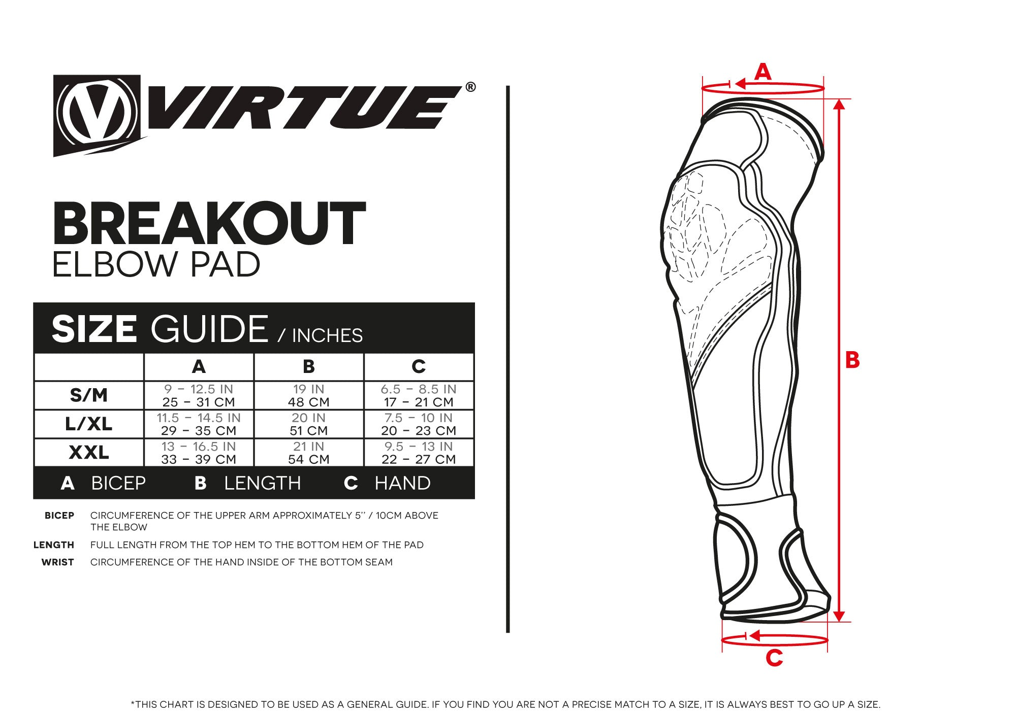 Size Guides Virtuepb Com Built To Win Usa