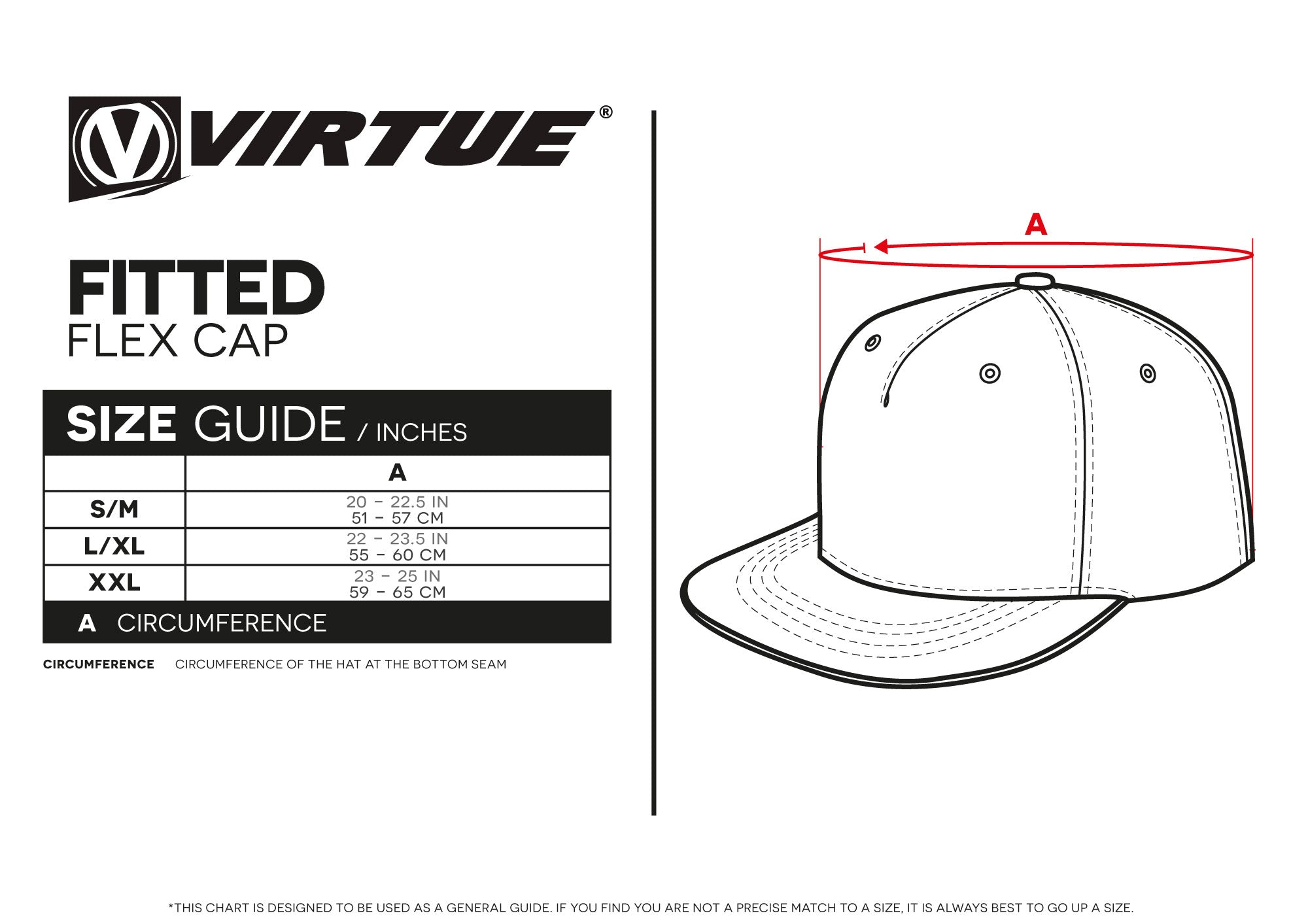a243795f Size Guides – Virtuepb.com | Built to Win USA