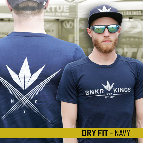 Bunkerkings Athlete Dry Fit Shirt - Crown 99 - Marbled Navy