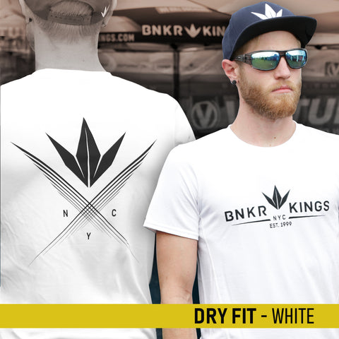Bunkerkings Athlete Dry Fit Shirt - Crown 99 - White