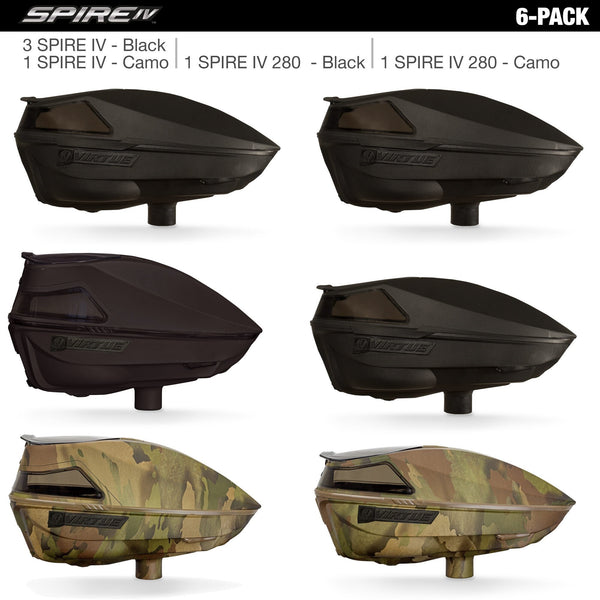 Virtue Spire IV Loaders - Black / Camo (6 Pack)