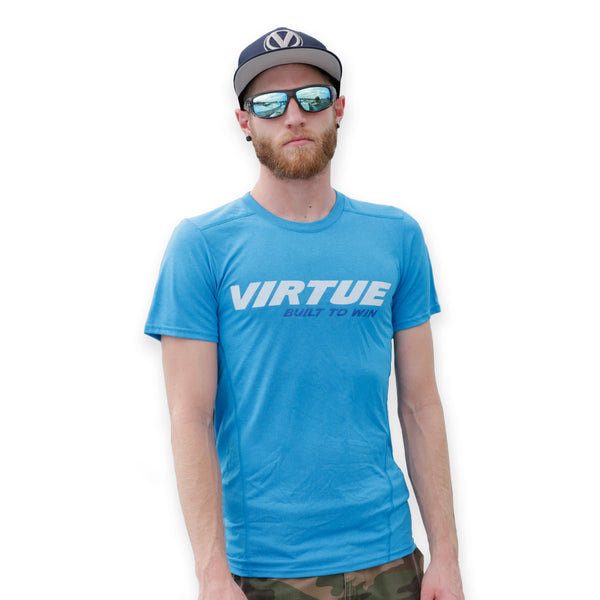 Virtue Proformance Dry Fit Shirt - Iconic - Marbled Cyan