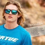 Virtue V-Paragon Polarized Sunglasses - Polished Ice Black