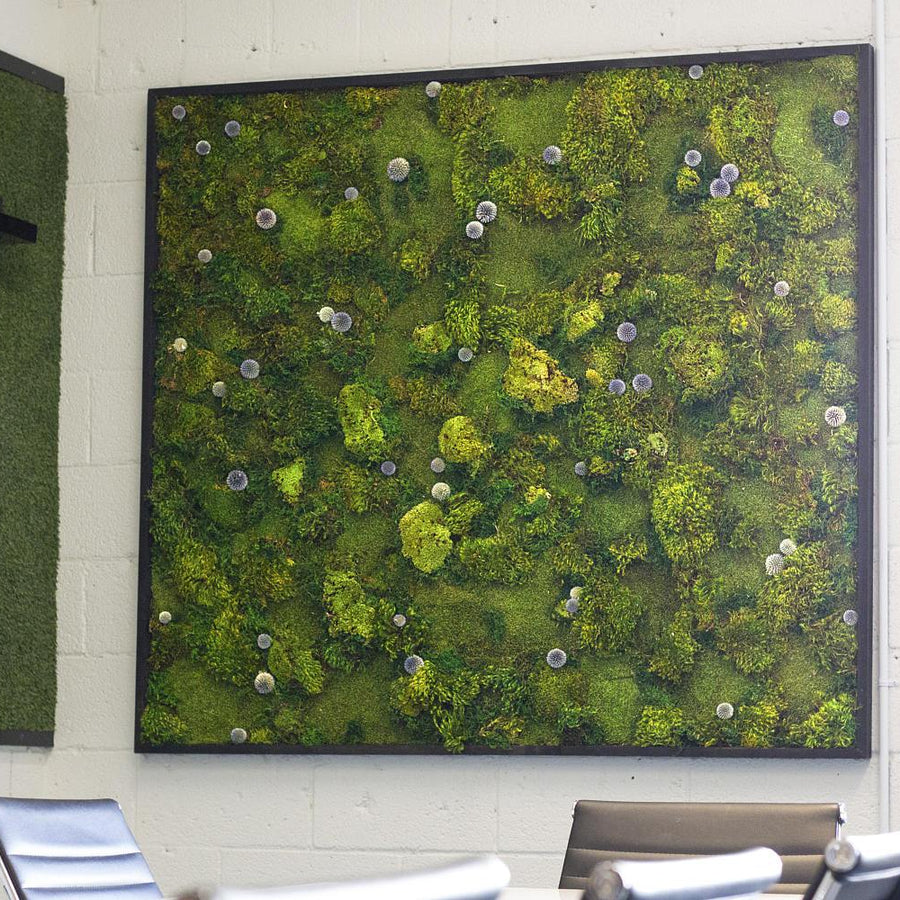 Blue Dot moss art