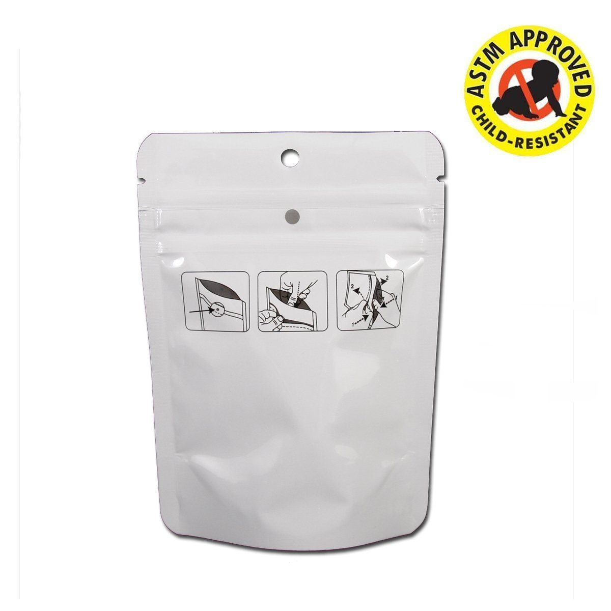 Brand King Child Resistant Mylar Bag 1/8 oz