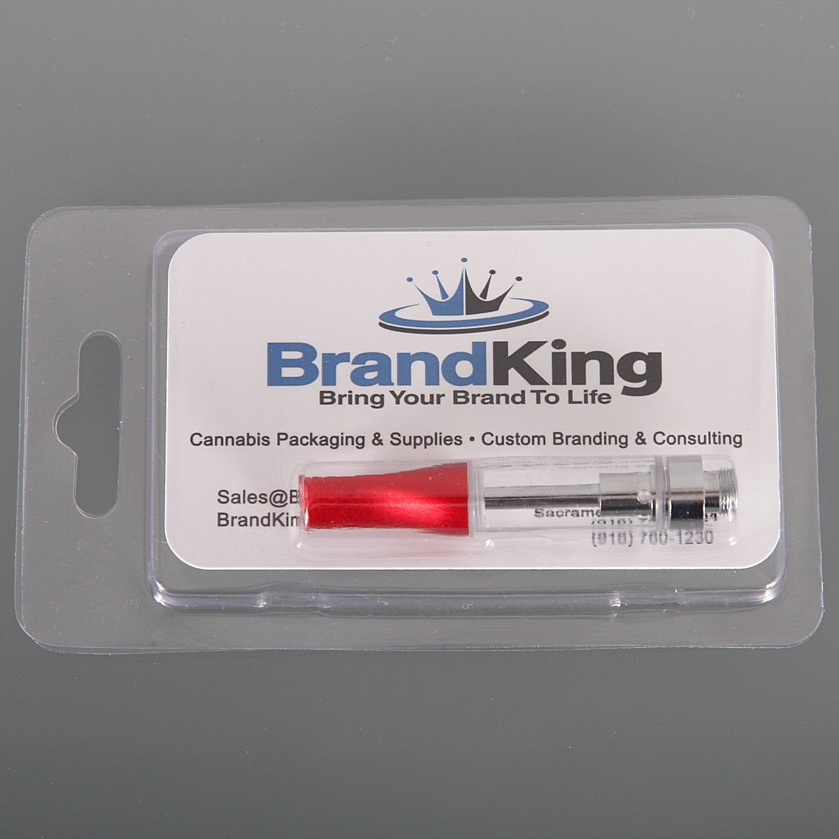 Clamshell Blister Pack for .5ml Vape Cartridges Clear