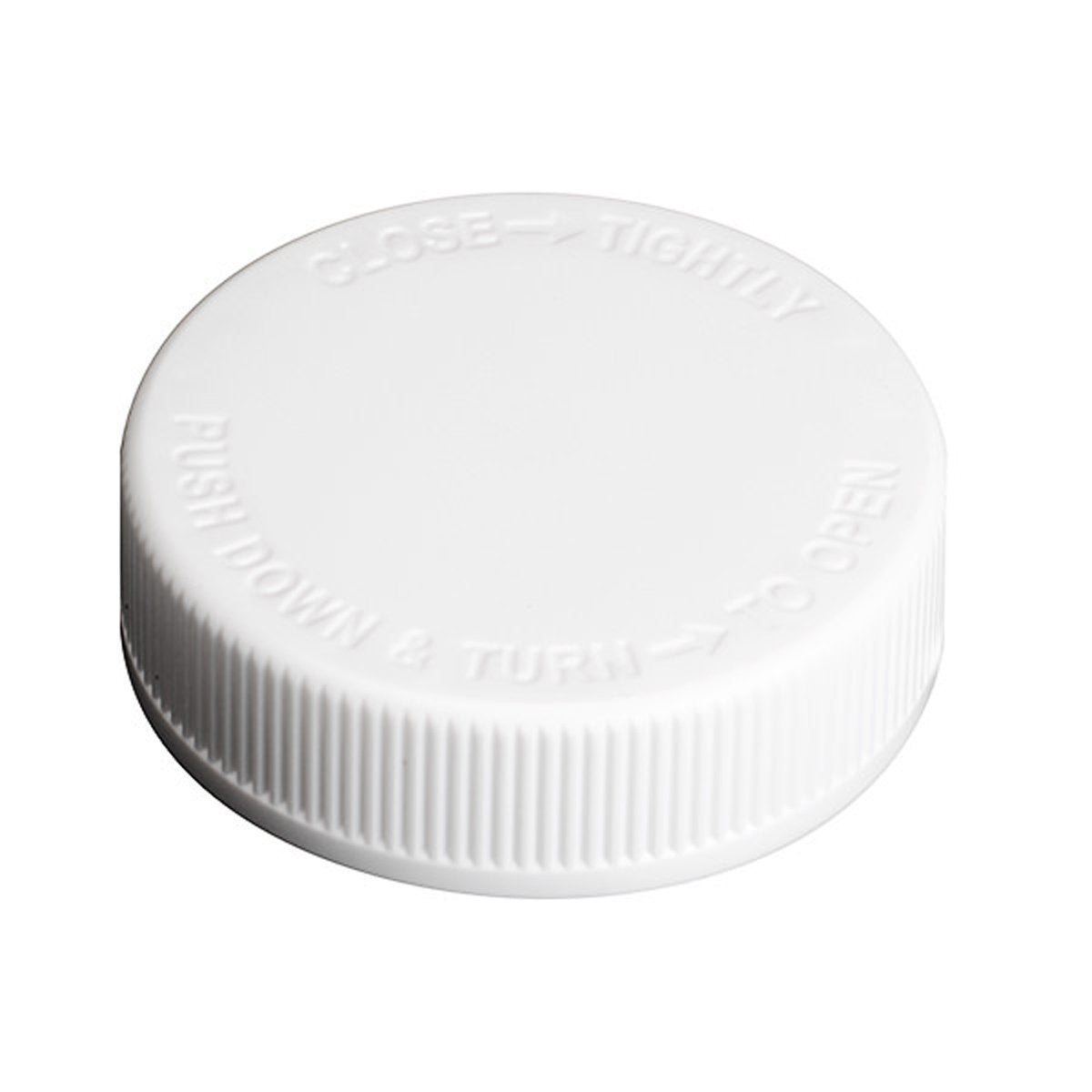 Foam Lined Child Resistant Cap 38mm White