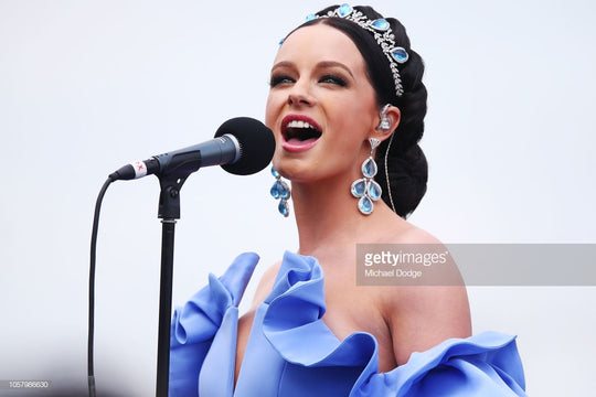 Sabrina Durante wears STEPHANIE BROWNE @ THE MELBOURNE CUP 2018