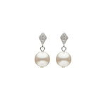 Tiffany II  Round Pearl Earrings