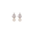 pearl earrings with diamond cz