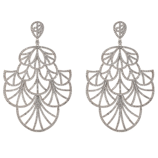 silver gorgeous chandelier earrings