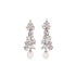 earrings feature clusters of Quartz stones and a pearl drop.