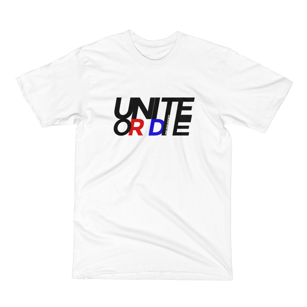 Unite or Die - Men's / Unisex T-Shirt / Made in the USA / Retro Style