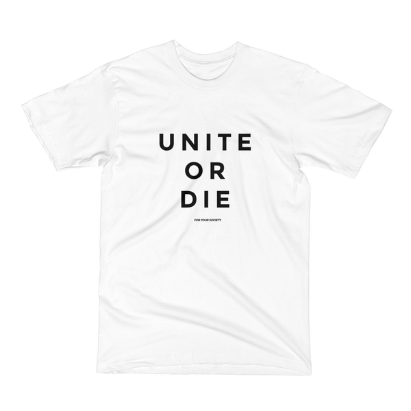 Unite or Die - Men's / Unisex T-Shirt / Made in the USA / Clean Style