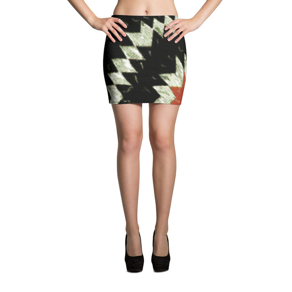 Dark Burst Modern Design Mini Skirt - Women's