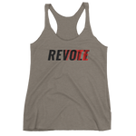 Revolt / Vote Women's Racerback Tank (Black & Red)