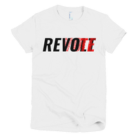 Revolt / Vote Women's T-Shirt (Black & Red)