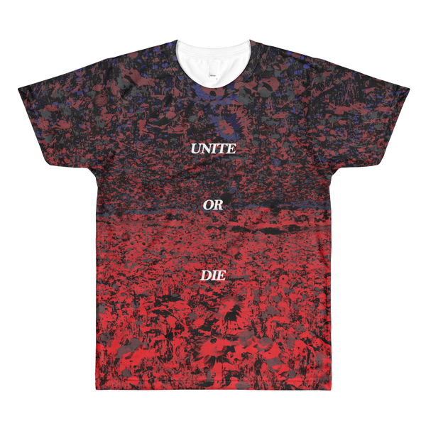 Unite or Die - Men's / Unisex / All-Over Printed T-Shirt / Flowers