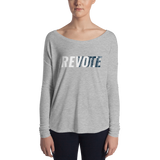 Revolt / Vote Women's Long Sleeve Tee (White & Blue)
