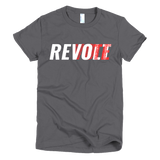 Revolt / Vote - Women's - T-Shirt (White & Red Print)