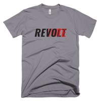 Revolt / Vote -Men's- Unisex - T-Shirt (Black & Red Print)