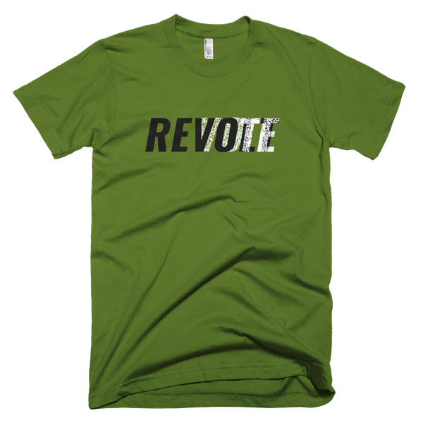 Revolt / Vote -Men's- T-Shirt (Black & White Print)
