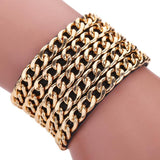 Bohemian Gold-Chain Style Magnetic Clasp Bracelet - Women's