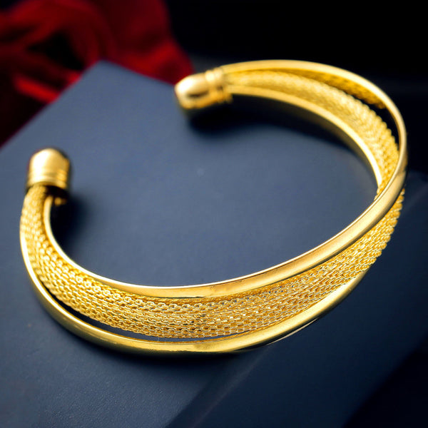 New Fashions - Gold or Silver Bangle Bracelet - Women's