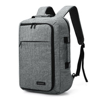"Laptop Backpack Convertible Briefcase 2-in-1 Business Travel Luggage Carrier - 15.6"" - Unisex"