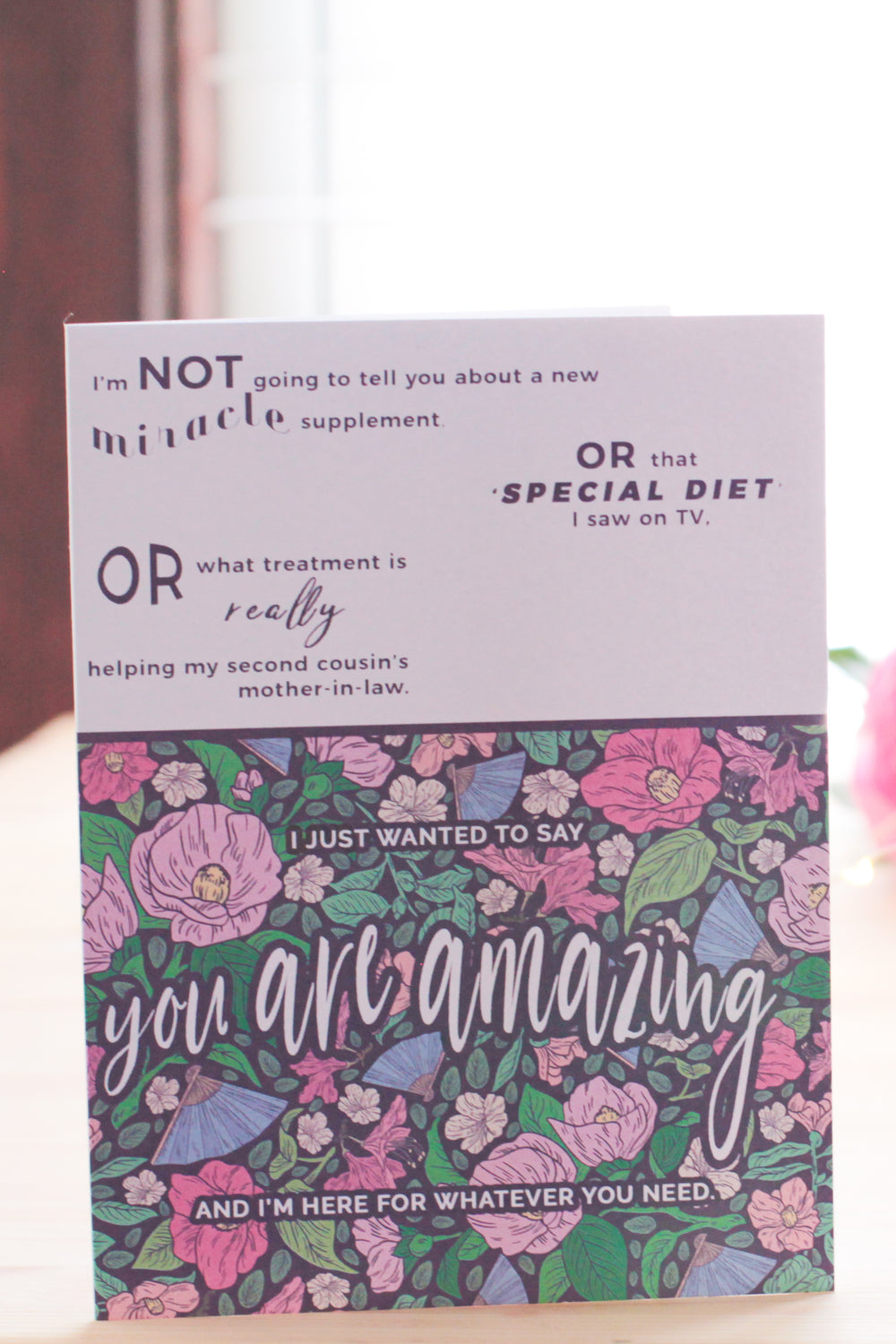 Chronic Illness Support Greeting Card