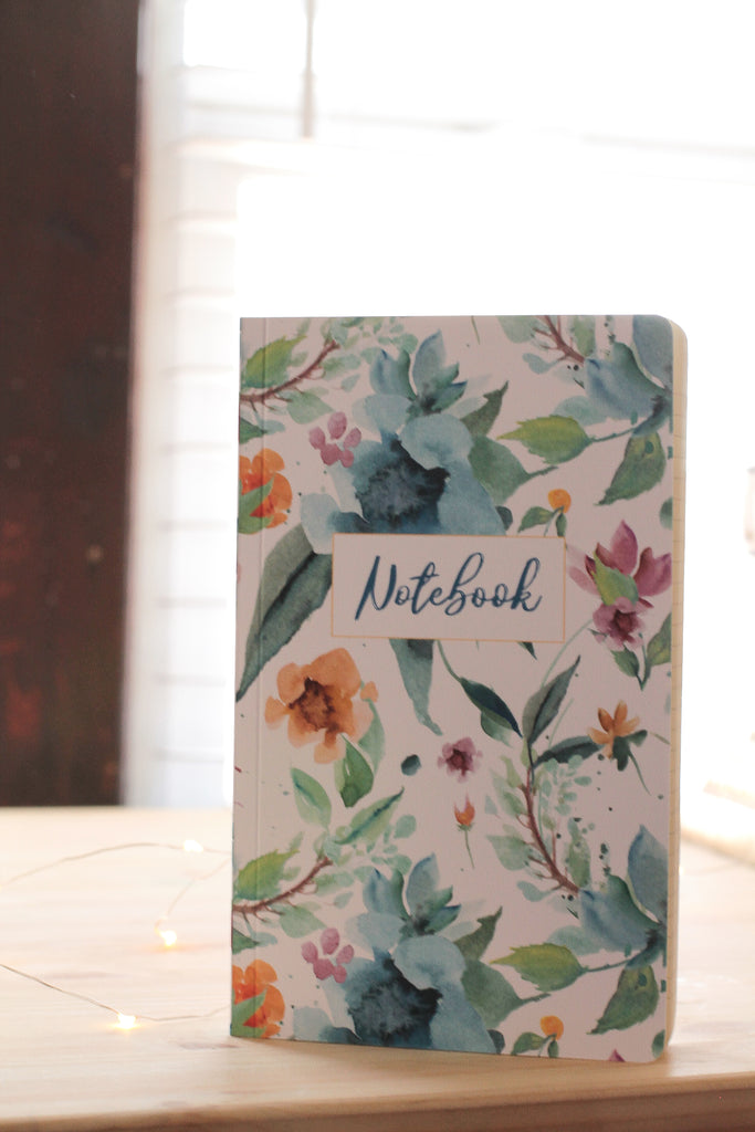 Ruled Floral Notebook