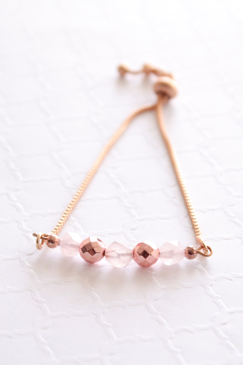 Pink Wednesdays Slider Bracelet