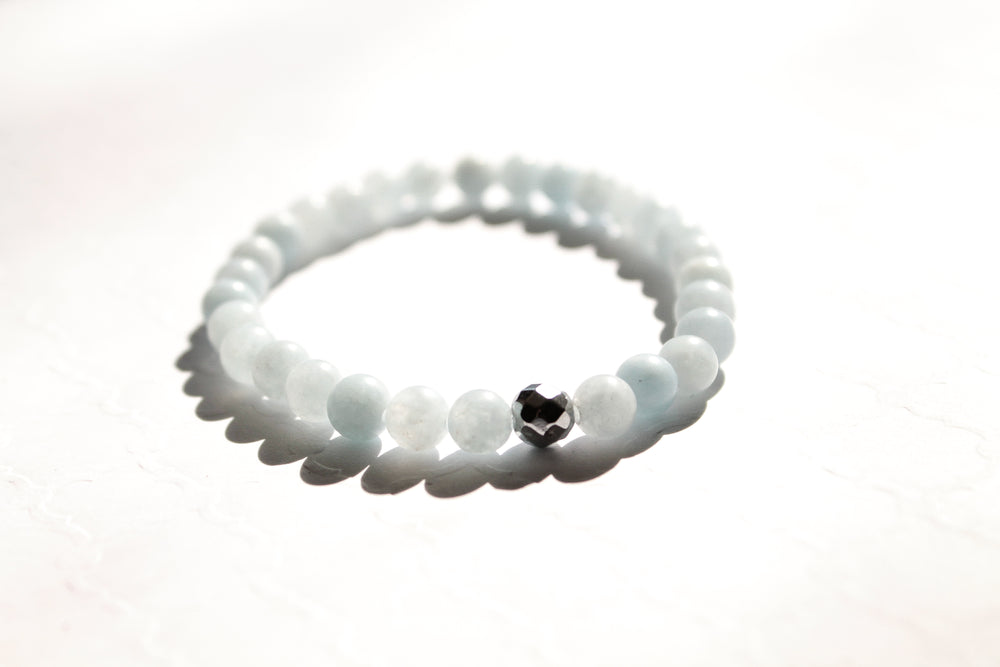 Playing the Aquamarine Blues Bracelet