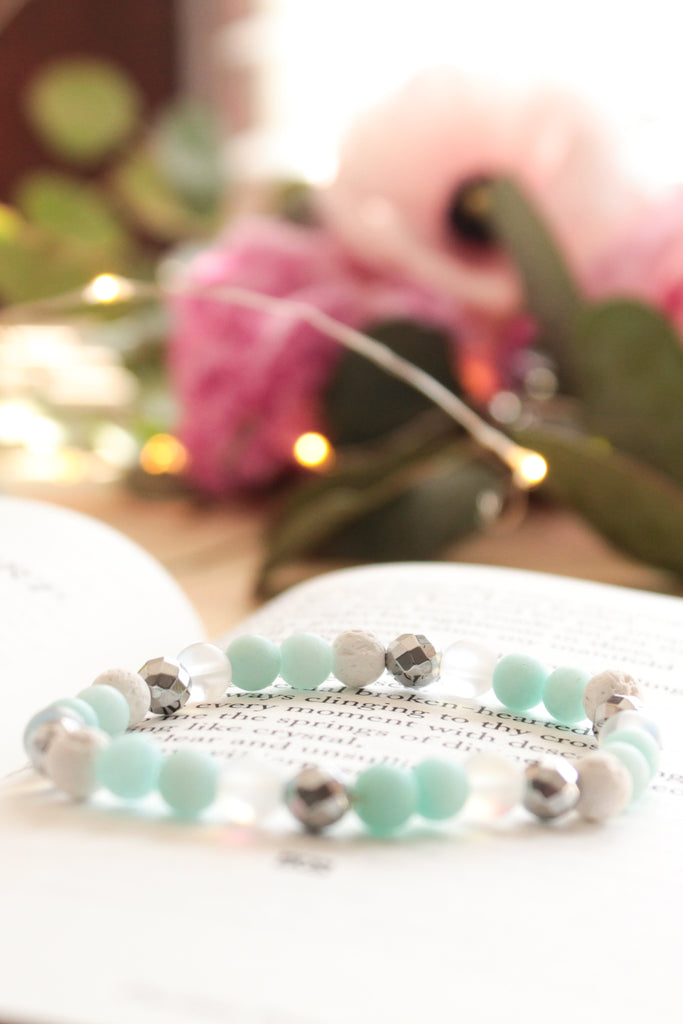 Teal Dreams Lava Bead Bracelet