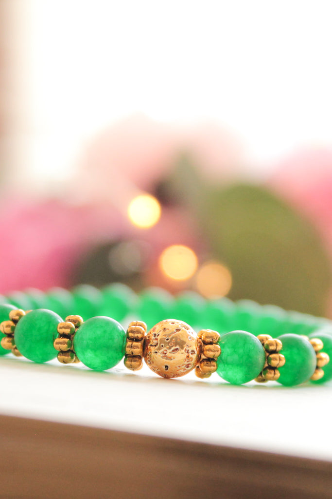 Green Dreams Lava Bead Bracelet