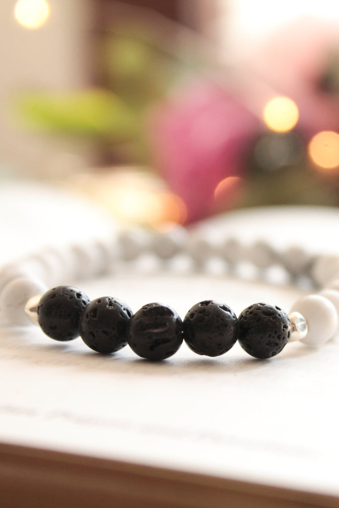 Hollywood Haze Lava Bead Bracelet