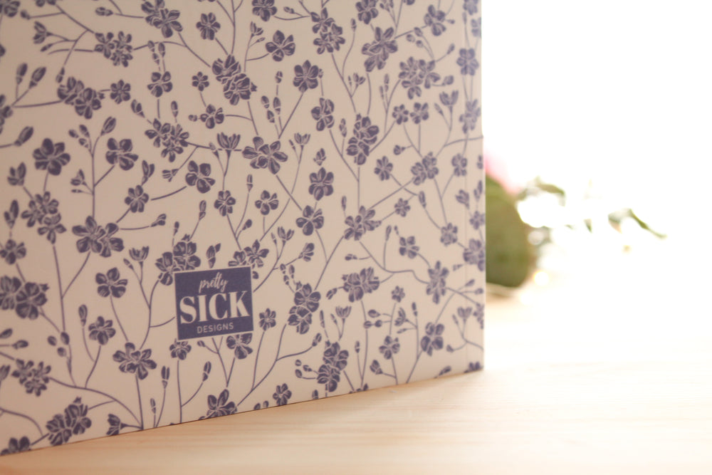 Blank Purple Floral Notebook