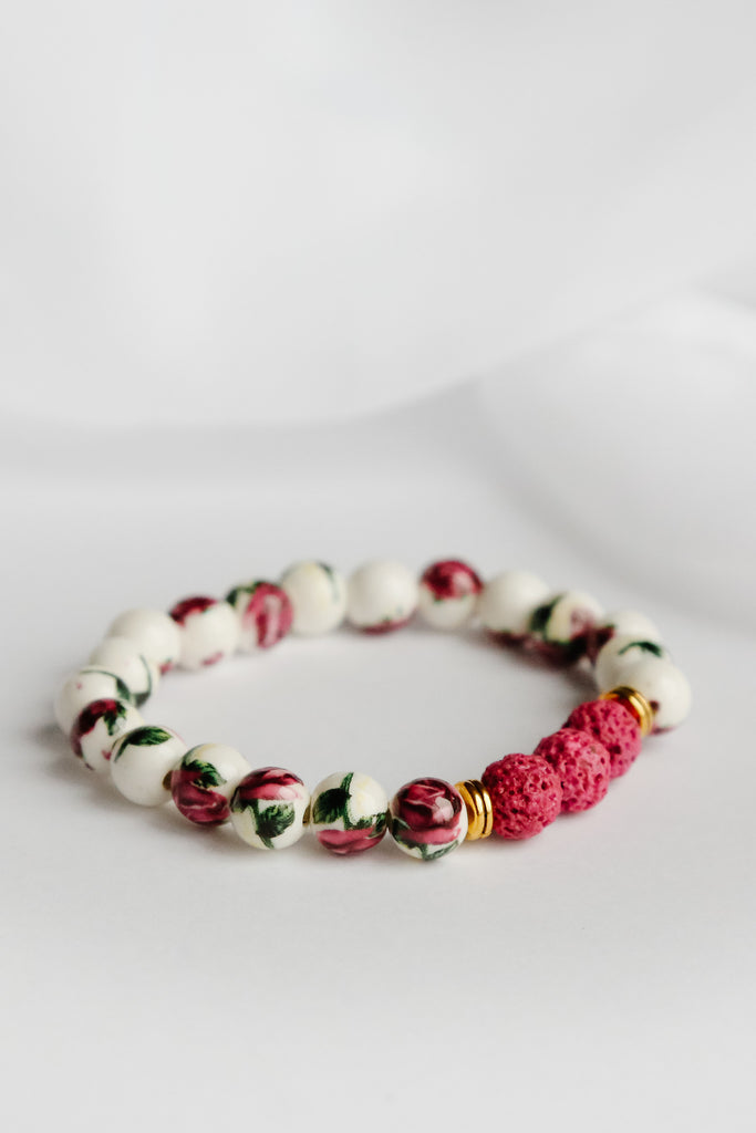 The Chris Harrison Floral Lava Bead Bracelet