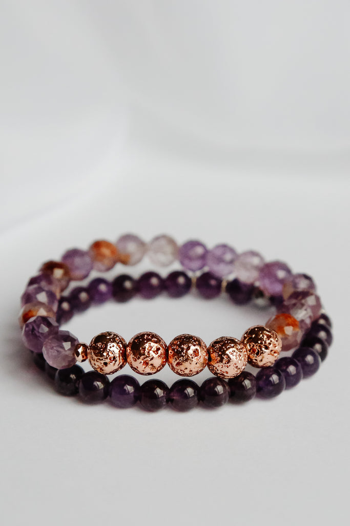Perfect Pair Lava Bead Bracelet