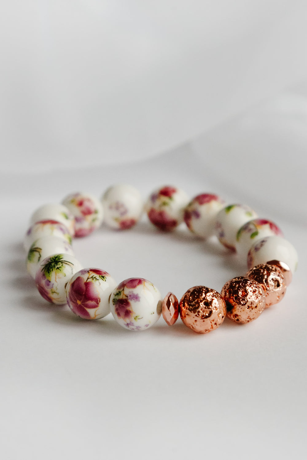 Forever in Rose Gold Lava Bead Bracelet