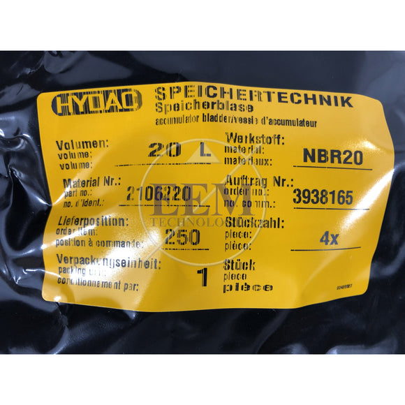 HYDAC REPAIR KIT SB210/330/400-20 NBR (22mm)