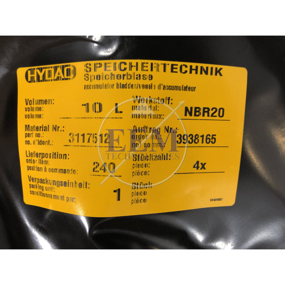 HYDAC Repair  Kit SB330/400-10(S) NBR (22mm)