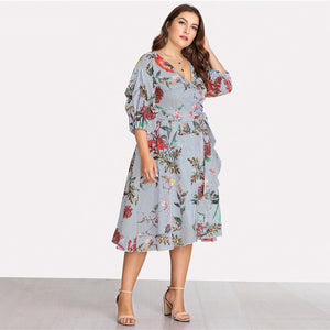 Beautiful Ugly Plus Size Curve Casey Floral Dress Australian Fashion