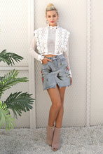 White lace flower shirt k fashion