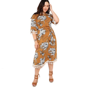 Beautiful Ugly Plus Size Curve Jillian Floral Dress Australian Fashion