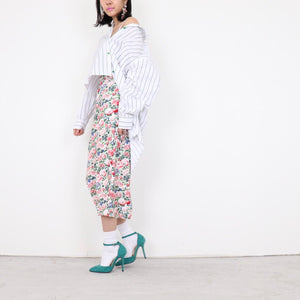 Floral pencil skirt k fashion